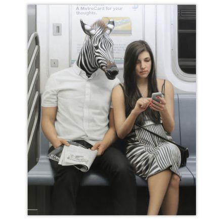 Matthew Grabelsky Original Art - Exit At Union Square - Original Artwork