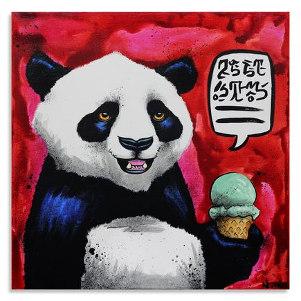 Max Neutra Original Art - Sweet Treat With Panda - Original Painting