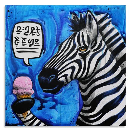 Max Neutra Original Art - Sweet Treat With Zebra - Original Painting