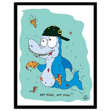 MCA Original Art - Eat Pizza, Not Fins!!