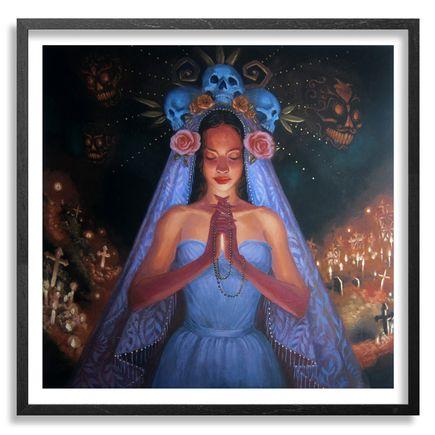 Mia Araujo Art Print - Santa Muerte - Hand-Embellished Edition