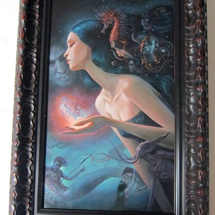 Mia Araujo Original Art - Secrets of the Deep - Original Painting