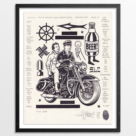 Mike Giant Original Art - Beer - Original Artwork