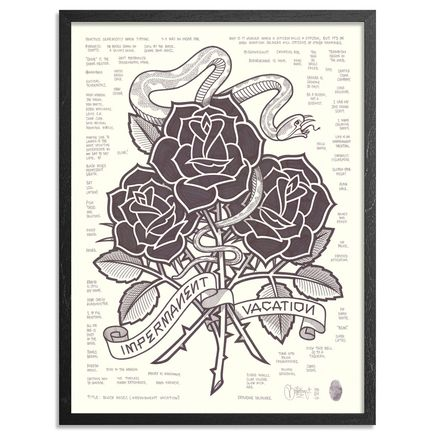 Mike Giant Original Art - Black Roses (Impermanent Vacation)