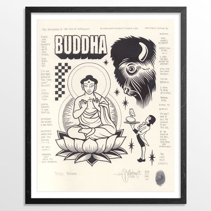 Mike Giant Original Art - Buddha - Original Artwork