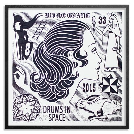 Mike Giant Original Art - Drums In Space