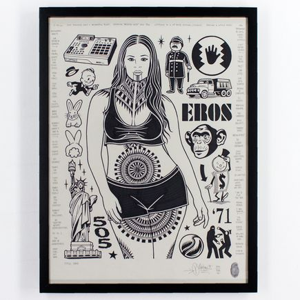 Mike Giant Original Art - Eros