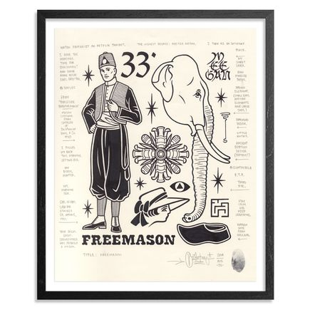 Mike Giant Original Art - Freemason - Original Artwork