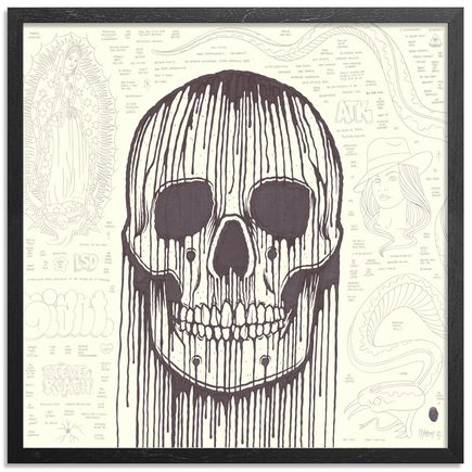 Mike Giant Original Art - Large Skull