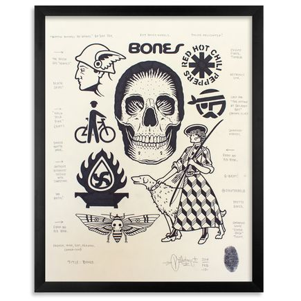 Mike Giant Original Art - Bones - Original Artwork