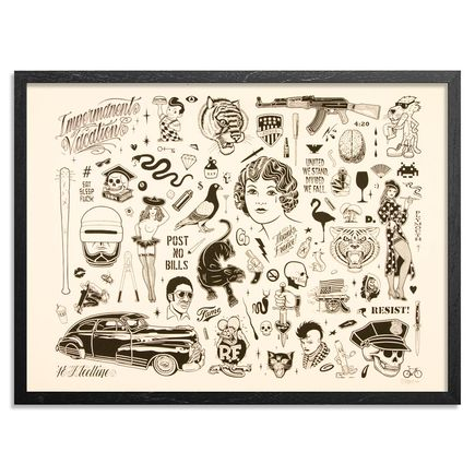 Mike Giant Art Print - Resist - Standard Edition