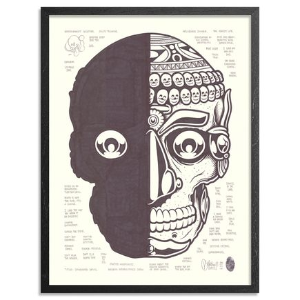 Mike Giant Original Art - Shadowed Skull