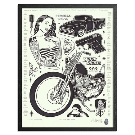 Mike Giant Original Art - Motorcycling