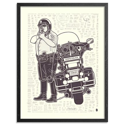 Mike Giant Original Art - Traffic Cop