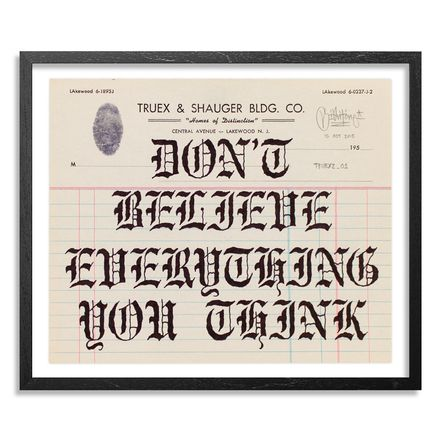 Mike Giant Original Art - Truex2_01 - Letterhead
