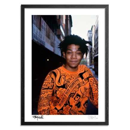 Mike Giant Art Print -  Jean-Michel Basquait. Bond Street. New York City. 1988. - Mike Giant Remix
