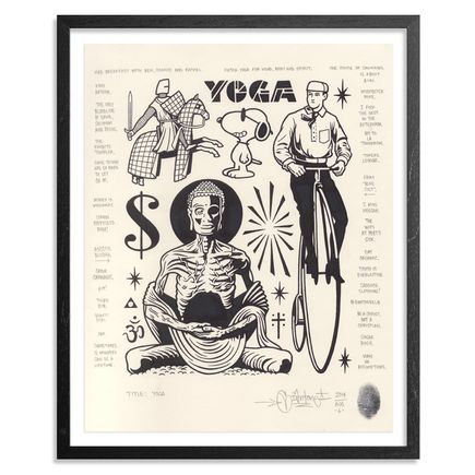 Mike Giant Original Art - Yoga - Original Artwork