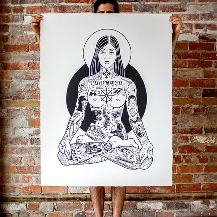Mike Giant Art Print - Yogini - 34x44 Inch Edition