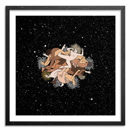 Mike Giant Art Print - Zero Gravity Orgy - Color Edition - 18 x 18 Inches