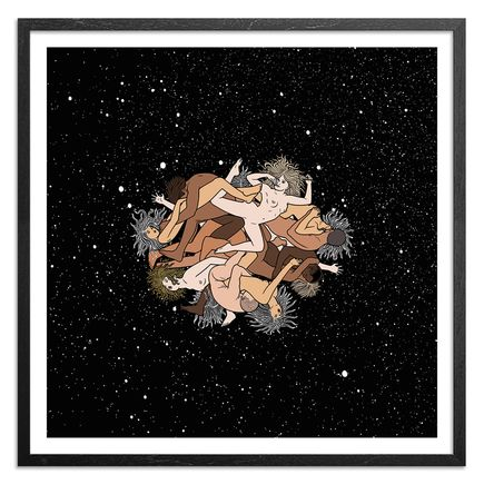 Mike Giant Art Print - OVERSIZED - Zero Gravity Orgy - Color Edition - 36 x 36 Inches