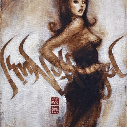 Mimi Yoon Original Art - I'm No Angel No. 1 - Original Painting