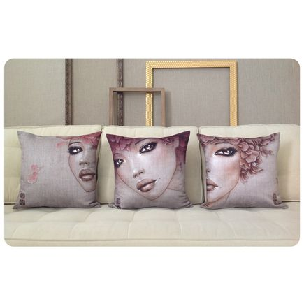 Mimi Yoon Art - Iyagi - 3 Pillow Set