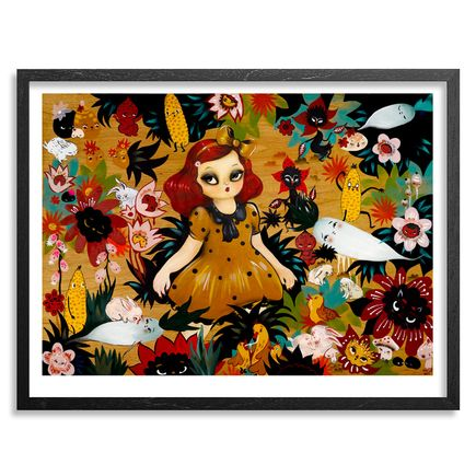 Misery Art Print - Momoka & The Vampire Night Garden - Framed