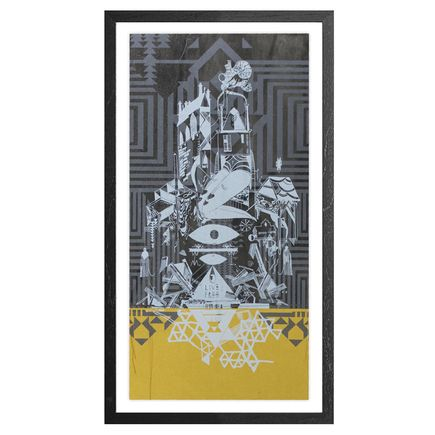 Monica Canilao Art Print - Home Sick - Gold Edition
