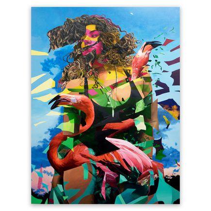 Mwanel Pierre-Louis Original Art - Flamingo Tropical - Original Artwork