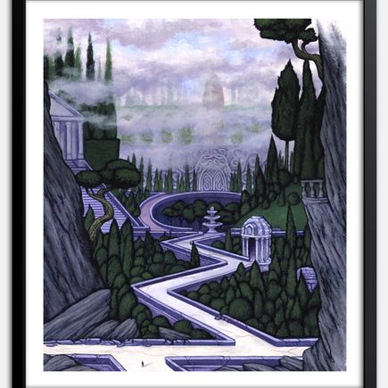 Nathan Spoor Art Print - Entrance To The Island