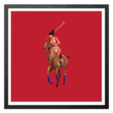 Naturel Art Print - Thoroughbred - Stadium Red Edition