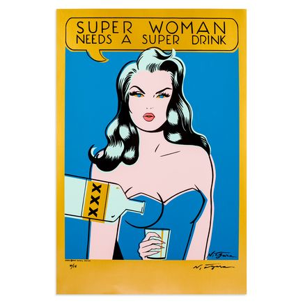 Niagara Art - Super Woman Needs A Super Drink - Gold