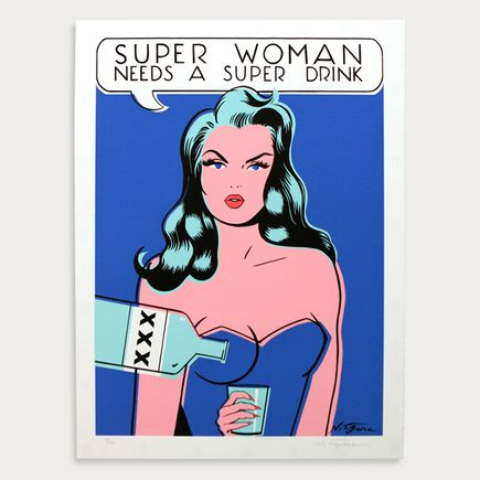Niagara Art - Super Woman Needs A Super Drink - White