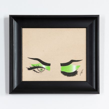 Niagara Original Art - Original Artwork - Green Eyes on Peach