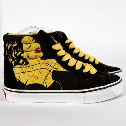 Niagara Clothing - M4.5 / W6 - Yellow Woman With Red Martini - High Tops