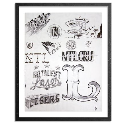 No Talent Losers Original Art - Jeff Gress - NTL Sketch