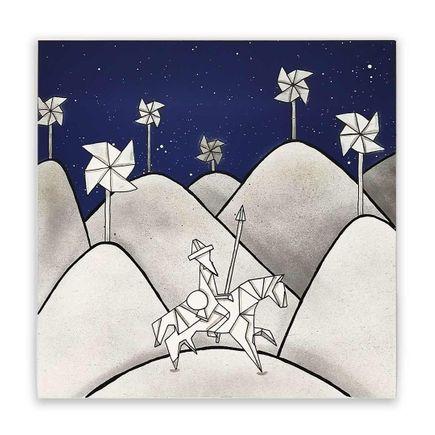 OakOak Original Art - Don Quichotte Origami - Original Artwork