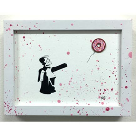 OakOak Original Art - Banksy vs. Homer (4 of 14)
