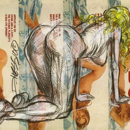 Derek Hess Original Art - Original Painting - October 1974