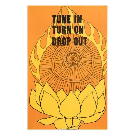 Om Art Print - Tune In Turn On Drop Out