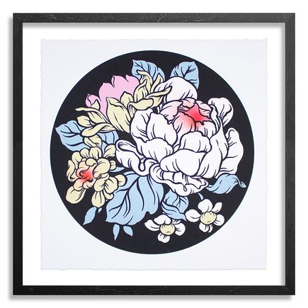 Ouizi Art Print - Lucky Garden - Black Edition