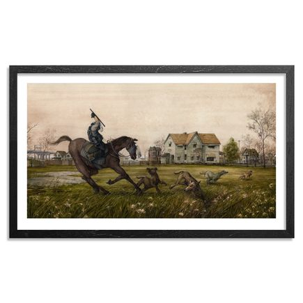 Pat Perry Art Print - Untitled Drawings Of Stray Dogs & Riot Horses - Framed