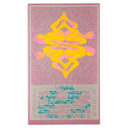 Paul Kagan Art - Taj Mahal at Avalon Ballroom - 1968