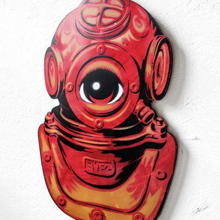 Peat Wollaeger Art - dEYEver's Helmet