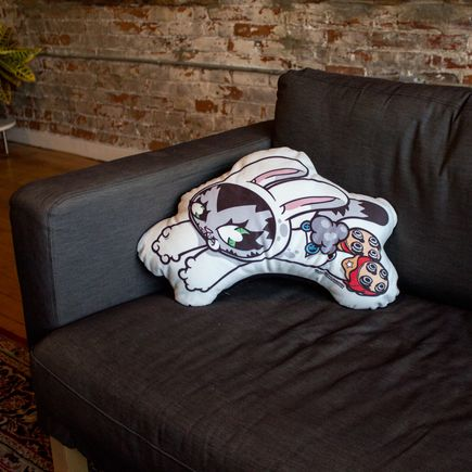 Persue Art - BunnyKitty Pillows