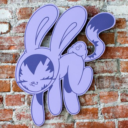 Persue Art - Bunny Kitty Cut Out - Purple Edition