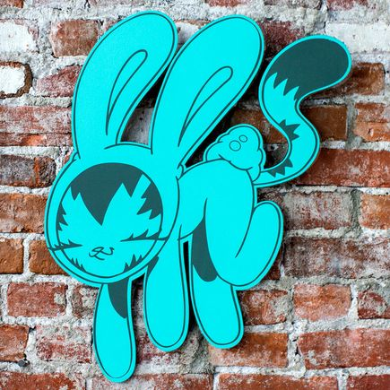 Persue Art - Bunny Kitty Cut Out - Teal Edition