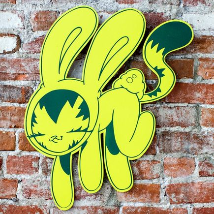 Persue Art - Bunny Kitty Cut Out - Yellow Edition