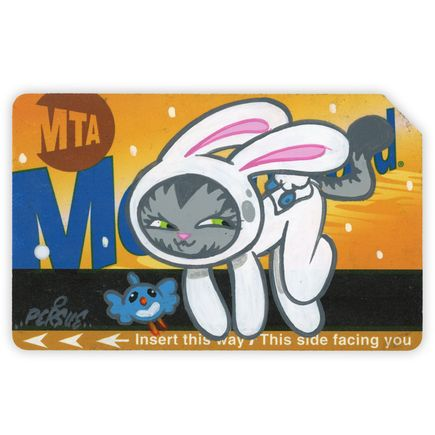 Bunny Kitty Art - MTA Card 4 - Hand-Painted Multiple
