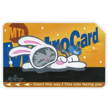 Bunny Kitty Art - MTA Card 6 - Hand-Painted Multiple